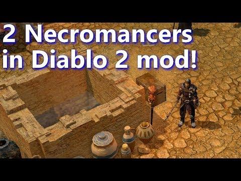 Grim Dawn FG - Diablo 2 mod, 2 Necromancers in Act 2