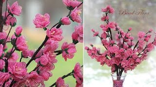 French beaded flowers:  cherry blossoms PART 1