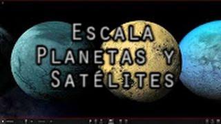 Escala - Planetas y satélites del Sistema Solar