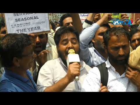 EJAC (R) holds protest, seeks regularisation of casual labourers