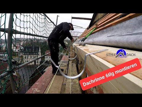 Dachrinne in Zink montiert - Biberschwanzdach in Colditz - Spenglerarbeiten vom Dachdecker