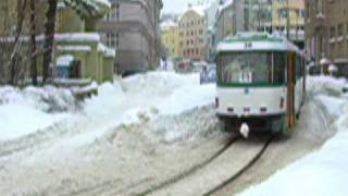 preview picture of video 'Tramvaje v Jablonci (Trams in Jablonec) 3'