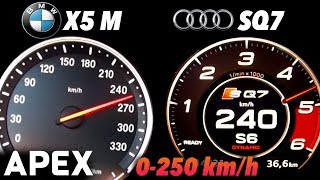 2018 Audi SQ7 vs. BMW X5 M - Acceleration Sound 0-100, 0-250 km/h | APEX