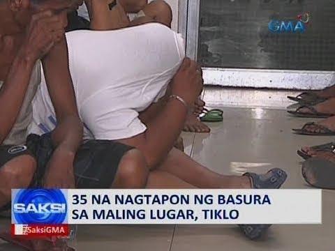 [GMA]  Saksi: 35 na nagtapon ng basura sa maling lugar, tiklo