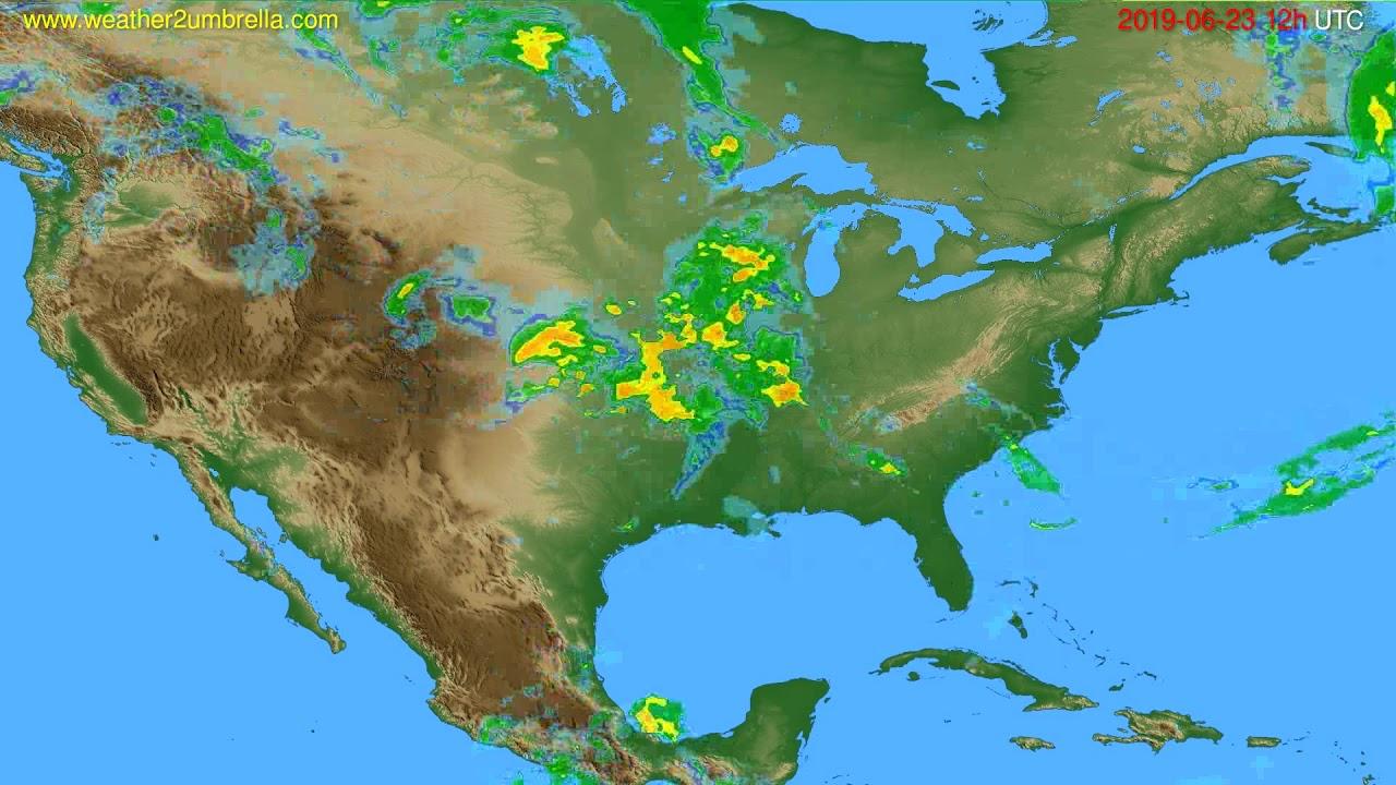 Radar forecast USA & Canada // modelrun: 00h UTC 2019-06-23