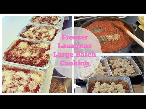 Freezer Lasagna Recipe (Makes 4 1/2 Lasagnas)
