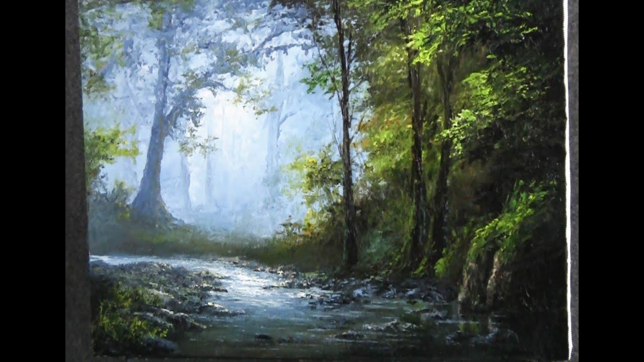 Картина с Кевином Хиллом - Просто мастихином пейзажная живопись