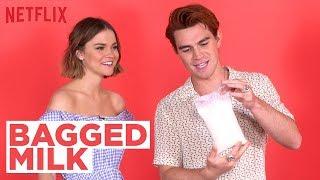 Bagged Milk?? W/ The Last Summer Cast Ft. KJ Apa & Maia Mitchell | Netflix