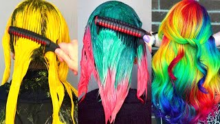 Best Of COLORFUL HAIR IDEAS That Are ODDLY SATISFYING 😍