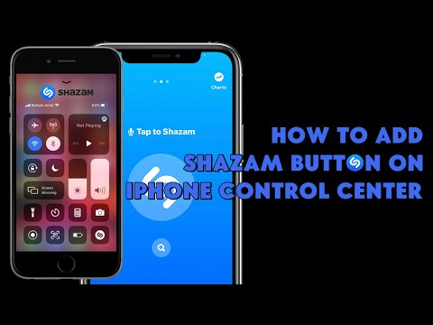 How To Add Shazam Button on iPhone Control Center (Auto Music Recognition on iPhone) - [romshillzz]