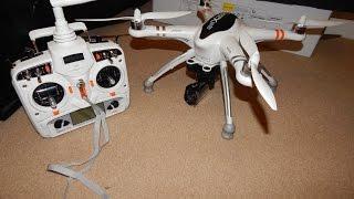 Walkera QR X350 PRO First Flight & Crash