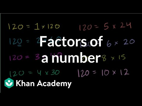 Finding factors of a number (video) | Khan Academy