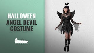 Halloween Angel Devil Costume Ideas: LAEMILIA Womens Lace Sexy Halloween Dark Angel Devil Fairy
