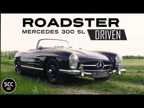 4K - MERCEDES-BENZ 300 SL ROADSTER - Rudge rims - Test drive in top gear with engine sound | SCC TV