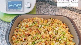 Thermomix® TM5 - Non Fried Reis mit Gemüse und Ei (all in one)