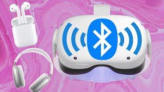 So funktionieren Bluetooth Kopfhörer mit der Oculus Quest 2 & 1 [deutsch] Oculus Quest AirPods Max