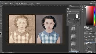 Old damaged photo RESTORATION & COLORIZATION - [TIMELAPSE]