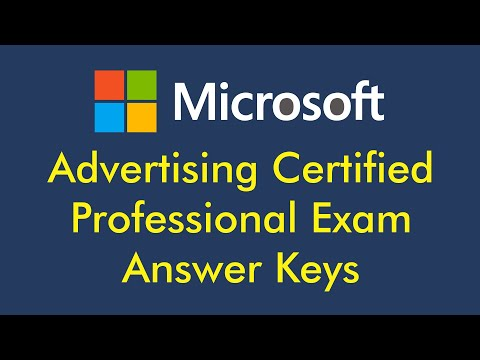 Microsoft Exam Answer Keys for Advertising Certified Professional ...