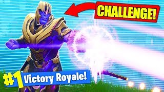 WINNING The THANOS *CHALLENGE* In Fortnite Battle Royale!