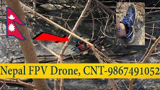Nepal FPV Drone Crash in Water- Got Lucky af- Watch till the end