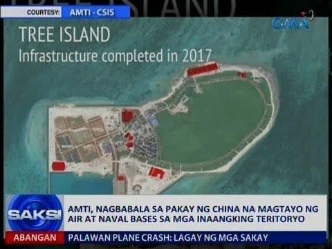 Saksi: AMTI, nagbabala sa pagtayo ng China ng mga bases sa mga inaangking teritoryo
