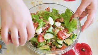 Салат с тунцом и овощами Простой рецепт Вкусного салата