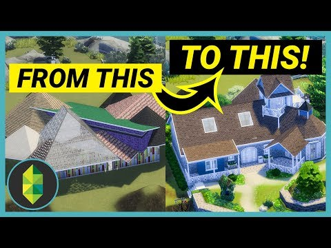 Turning a HIDEOUS Build into a Beautiful Home (Sims 4 Build)