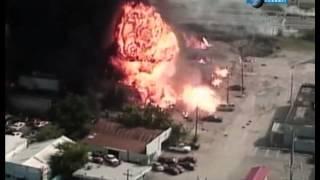 Смотреть онлайн Огромный взрыв газовых баллонов в Далласе