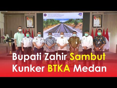 Bupati Zahir Sambut Kunker BTKA Medan
