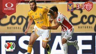 Resumen Tigres 3 - 2 Necaxa   Clausura 2019 - J7   Televisa Deportes