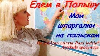 Польский язык. #5. Полезные шпаргалки-выручалки на польском. Едем в Польшу первый раз