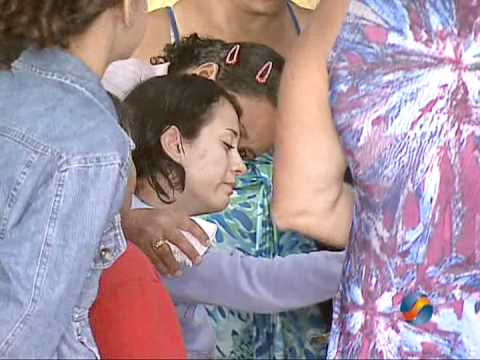 Velório da menina que foi espancada e estuprada em Nerópolis