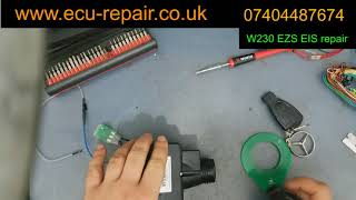 Mercedes W230 - SL500 - Key not turning- Remote not working - EZS EIS repair