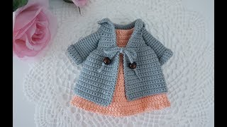 How To Crochet Doll Dresses / Doll Clothes