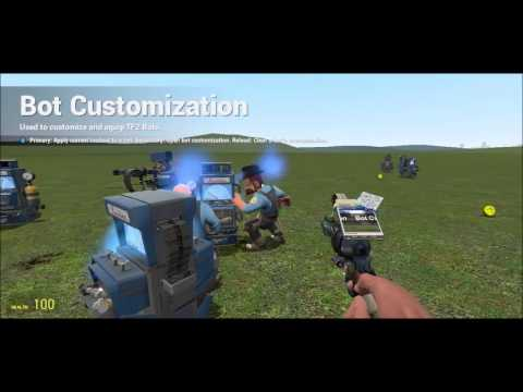 GMOD TF2 BOTS MOD FUN CRAZY POSSIBILITES - смотреть онлайн