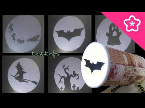 Lampara de sombras Batman  Halloween Trineo de Santa - DIY | DecoAndCrafts