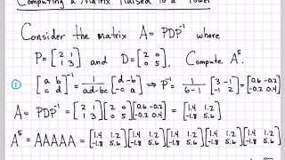Linear Algebra Example Problems - Computing a Matrix to a Power