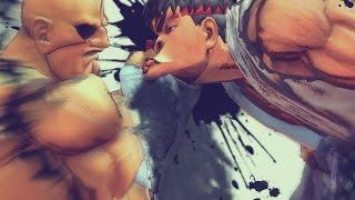 "Ultra Street Fighter IV - Ryu/Sagat - E. Honda/Dhalsim ""Mesh Swap"" *PC Mod* (1080p 60FPS)"