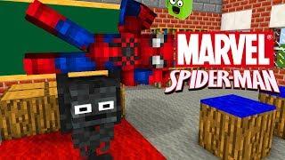 Monster School : MARVEL'S SPIDER-MAN VISIT MONSTER SCHOOL - Minecraft Animation