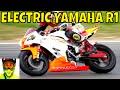 210kW Racing Electric Yamaha R1 vs Petrol Bikes
