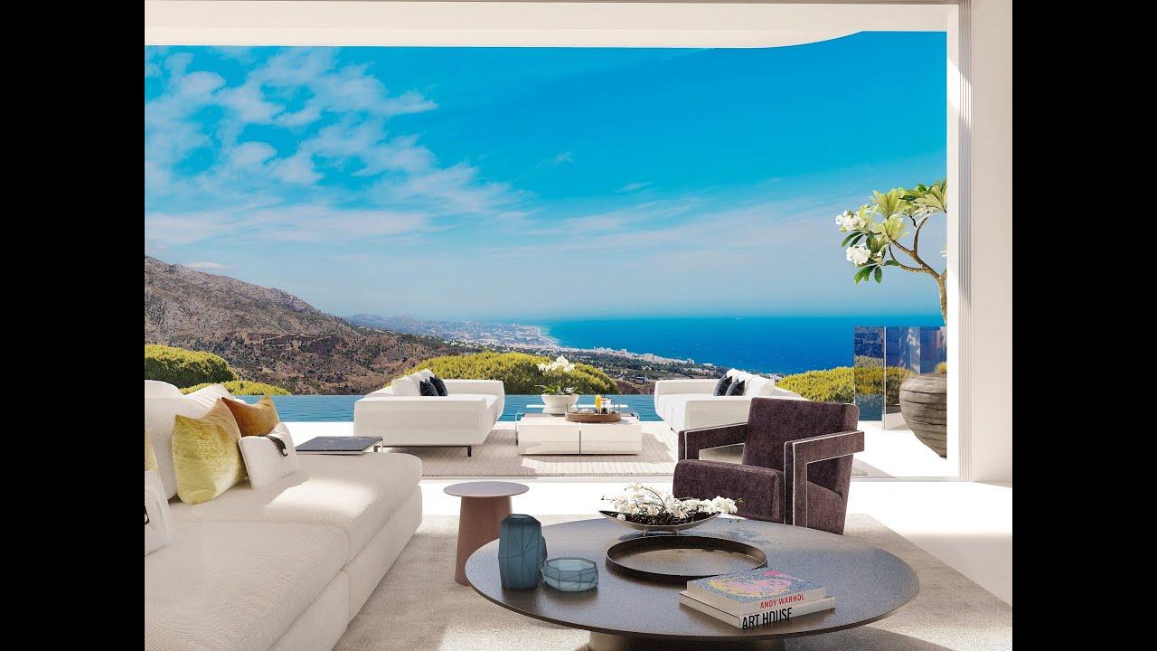 Villa de estilo contemporáneo a estrenar con vistas panorámicas al mar y al lago en venta en La Quinta, Benahavis