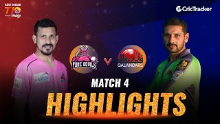 Match 4 Highlights - Pune Devils vs Qalandars, Abu Dhabi T10 League 2021