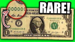 DON'T SPEND THESE RARE DOLLAR BILLS WORTH MONEY - FANCY SERIAL NUMBERS ON BILLS