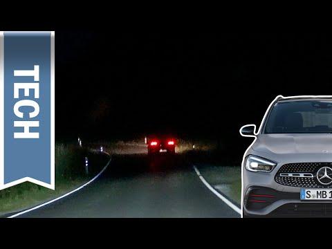 Multibeam LED im Mercedes GLA / A-Klasse im Test: Adaptiver Fernlicht-Assistent Plus im Test