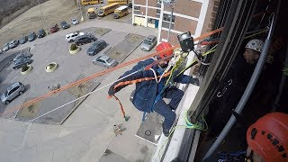 High angle rescue training in New London