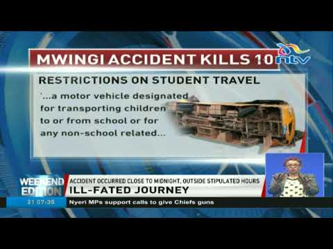 School driver in Mwingi accident liable for violating traffic act of 2017