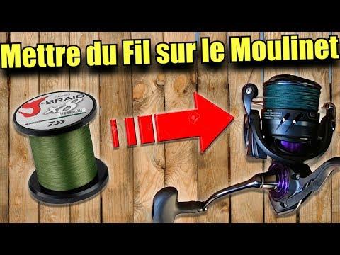 Comment mettre du Fil de Pêche sur le Moulinet ? Nylon & Tresse 🎣