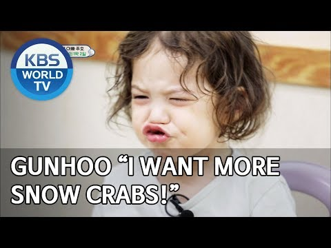 "Gunhoo ""I want more snow crabs!"" [The Return of Superman/2019.09.15]"