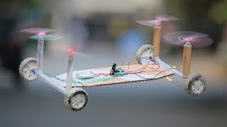 How To Make a Drone - Drone Car - Quadcopter at Home