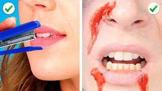 Trying 45 AMAZING MAKEUP HACKS YOU SHOULD KNOW BY 5 MINUTE CRAFTS